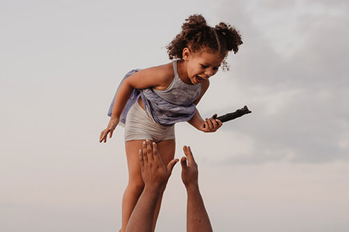 child-in-air
